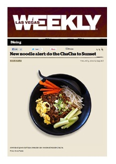 Noodle ChaCha Review on Las Vegas Weekly